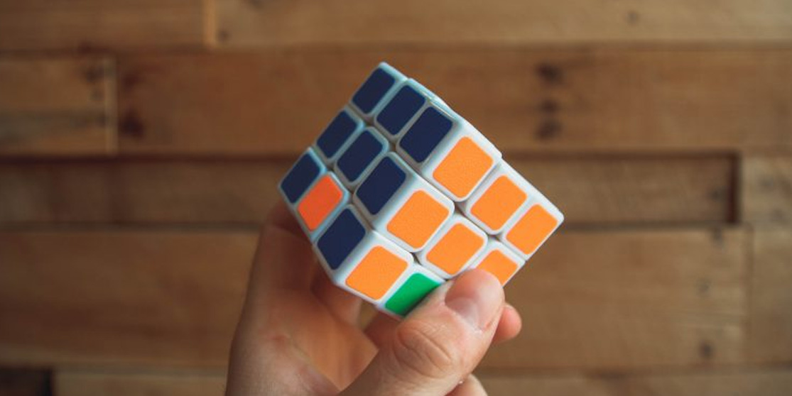 a cube with multiple colours on all sides