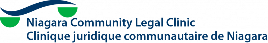 Niagara Community legal clinic logo in English and French